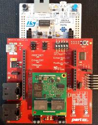Kit Nucleo avec carte PMOD et module Multiprotocole