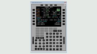 simulation avionique ARINC MCDU ARINC 739